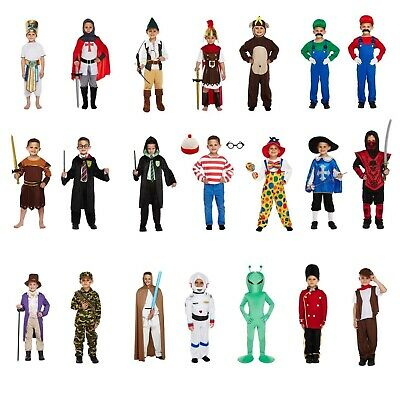 Boys Fancy Dress Costumes Various Dressing Up Outfits World Book Day 4-12 years