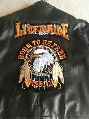 Toppe Patch Ricamata Termoadesiva Harley Biker Born To Be Free