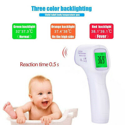 Digital LCD Non-contact IR Infrared Thermometer Forehead Body Child Temperature
