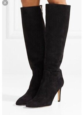 61dce2c66dc SAM EDELMAN WOMENS Olencia Black Suede Knee High Siletto Boot Size ...