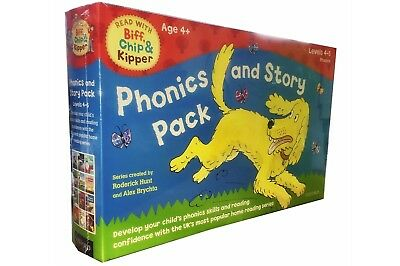 Read with Biff Chip Kipper Phonics and Story 12 Book Pack Kids Early Readers New