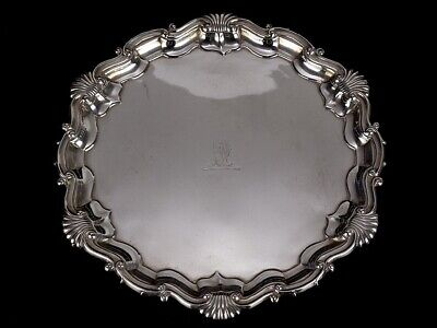 1899 Sheffield Sterling Silver Salver with Holmes Crest