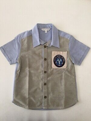 Little Marc Jacobs Boys Blue Button Down Collared Dress Shirt Size 3 3T Toddler