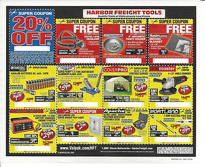 Harbor Freight Tools Coupons 20 Off And More Exp 6 4 19 2 25