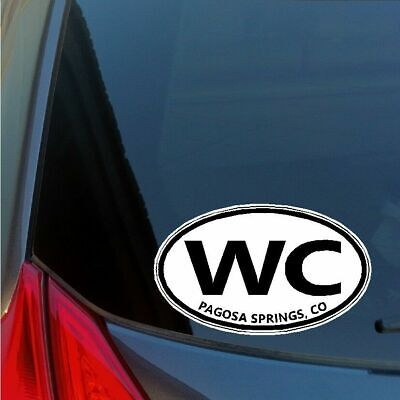 Winter Springs Florida Oval Bumper Sticker or Helmet Sticker D2642 Euro Decal