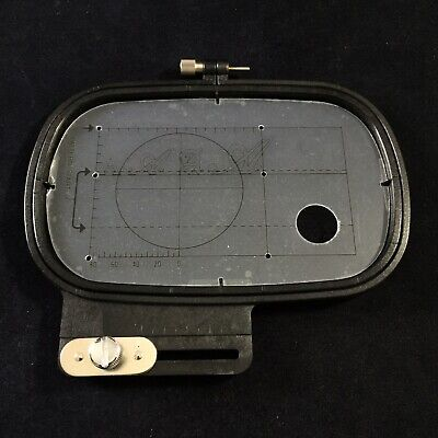 Janome Hoop for Embroidery Rectangular Hoop with template Memory Craft Elna