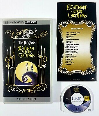 Sony PSP UMD Video TIM BURTON'S NIGHTMARE BEFORE CHRISTMAS dt. OVP