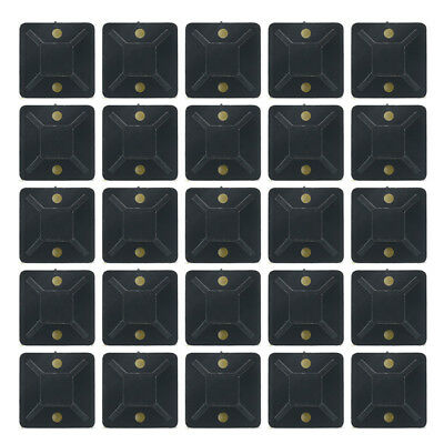 100PCS Self Adhesive Cable Wire Zip Tie Mounts Mounting Base Wall Clamp 20*20mm