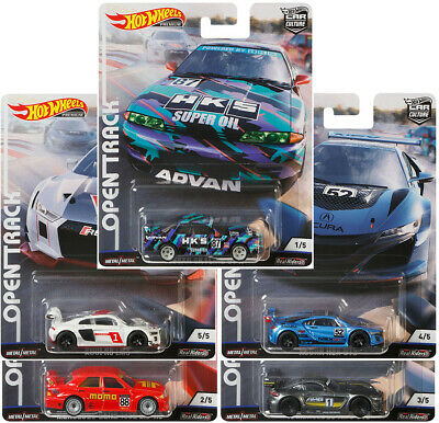 Hot Wheels 2019 Car Culture Open Track - Set Of 5 - Fpy86-956H - Ships 3/26