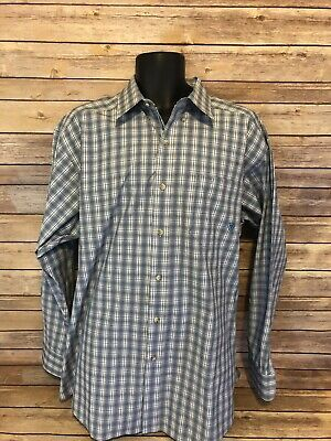 a3adf861 ARIAT Pro Series Long Sleeve Button Front Shirt Size XL Mens Plaid Blue  Western
