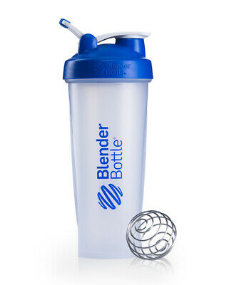 BlenderBottle 32oz Classic Shaker Cup w/ Wire Whisk Blender Ball & Carrying Loop