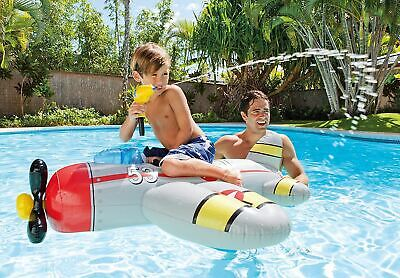 Intex Inflatable Ship Rider Jet Ride On Beach Toy Lilo Swimming Pool Float Raft