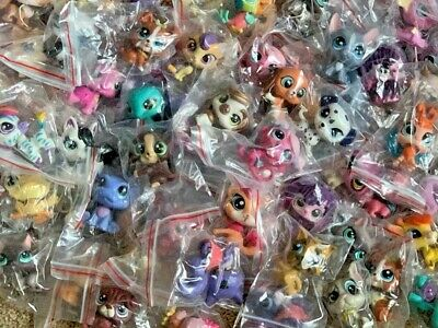 Littlest Pet Shop Mixed Lot 10 Pc Surprise Random Pet Figures Authentic LPS