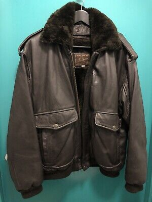 1c895b29f50 Vintage Redskins Brown Leather B32 G1 Flying Jacket Immaculate Large With  Lining