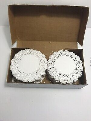 "Hoffmaster 500235 Cambridge Lace Doilies 6"" White Case Of 1000"