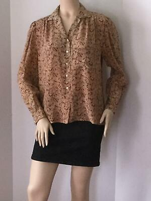 68546dd4ef1 VINTAGE CHANEL BLOUSE Button Down Shirt With Cc Logo RARE!!Size 40 ...