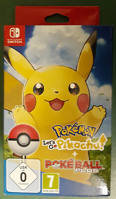 Pokemon Let's Go Pikachu + Poké Ball Plus Nintendo Switch  New + Free UK Postage