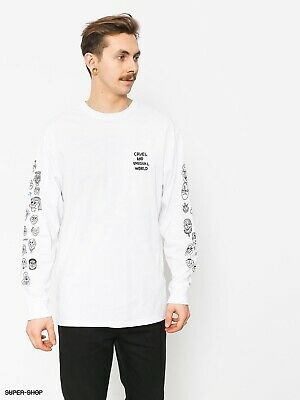 a1265ab388c0d3 NWT Vans X Cult Long Sleeve White Tshirt Mens Size Large Cruel And Unusual  World