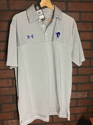 6b20a6f956e New Men s Large Seton Hall University Pirates Under Armour Golf Shirt  MSRP 64.99