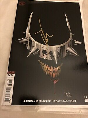 The Batman Who Laughs  01  Black Cover Comic Hand Signed by jock