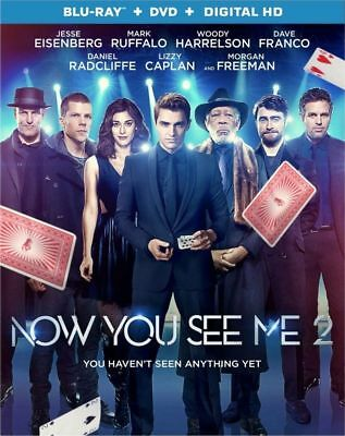 Now You See Me 2: Blu-ray + DVD + Digital HD [Brand New] 2-Discs, Free Shipping
