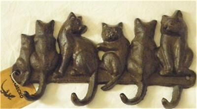 Cast Iron Antique Vintage Style Rustic Cat Key Hanger Accessory Decorative New