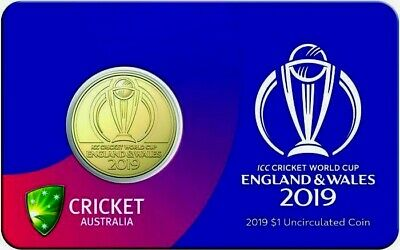 2019 $1 ICC WORLD CUP CRICKET COIN,SPECIAL EDITION,UNC PRISTINE COIN,LTD QTY's!!