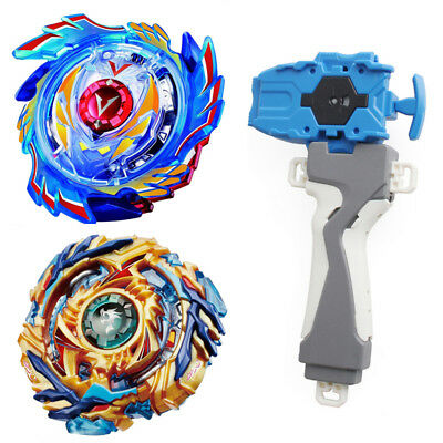 New 2pcs Beyblade Burst B-73 B-79 Spinning Top Set +Launcher +Grip Metal Masters