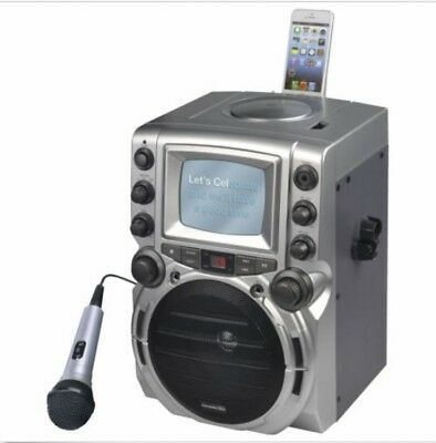 "GQ752 Portable Karaoke Machine CD/CD+G Music with 5.5"" B/W Monitor"
