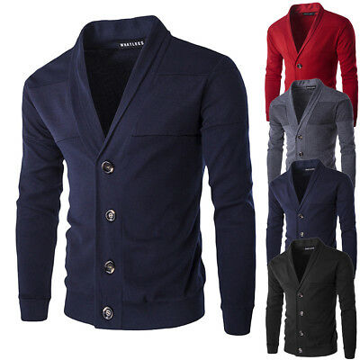 Winter Men's Autumn Warm Pullover Cardigan Button Knitted Sweater Blouse Tops