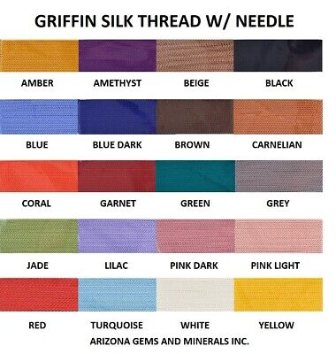 Griffin Silk Beading Thread W Needle 2 Meter - Cord for Stringing Beads & Pearls