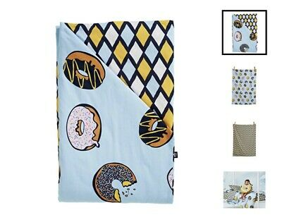 Sack Me - Krispy Dreme Quilt Cover & Fitted Sheet Set - Cot Size - RRP $148
