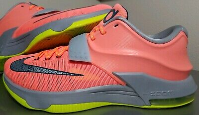 6424bed44a29 Mens size 11 Nike KD VII 7 Mango Volt Grey 35000 Degrees 653996-840 EUC