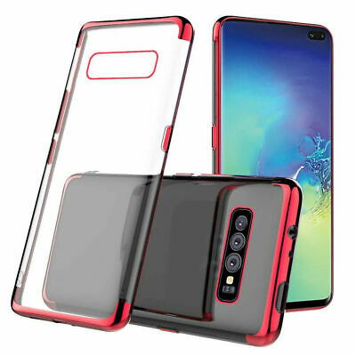 For Samsung Galaxy S10 Plus S10e S10 Case Plating Hybrid Rubber Clear Slim Cover