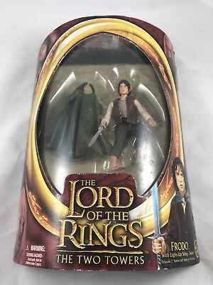 Lord of the Rings The Two Towers Frodo w//light up sting sword Half moonNEW