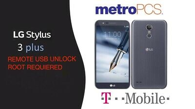 LG STYLO 3 Plus Metro Pcs Tmobile Tp450 Mp450 Remote Usb Unlock Root  Required