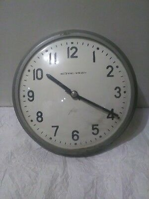 Vintage Industrial Wall Clock.Factory Wall Clock.School Wall Clock.USSR 1970s