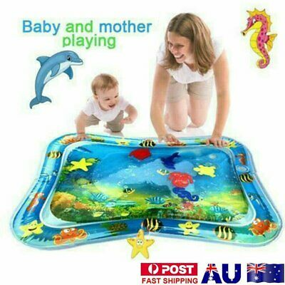 Inflatable Water Play Mat Infants Toddlers Tummy Time Play Activity Center OD