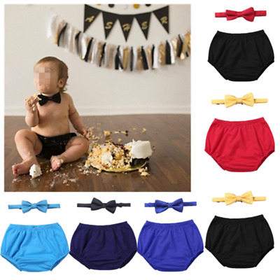 Baby Boy 1st Birthday Outfit.Baby Boys 1st Birthday Outfit Diaper Cover Bloomer Bowtie