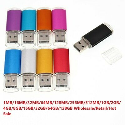 1-32GB 64GB USB 2.0 Exquisite Mini Metal Flash Memory Stick Storage Thumb U Disk