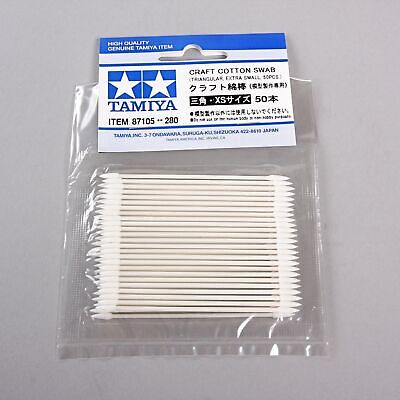 Tamiya Tools Craft Cotton Swab 87105 Triangular/Extra Small 50pcs for model kit