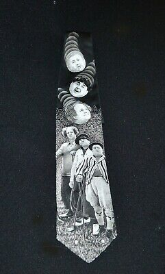 Three Stooges  Golfing Neck Tie Ralph Marlin & Co Vintage 1994