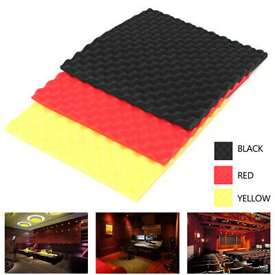 12PCS Acoustic Soundproofing Sound-Absorbing Foam Fire Retardant Egg Shape Pad