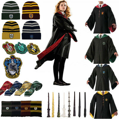 Harry Potter Gryffindor Slytherin Tie Scarf Magic Wand Cosplay Costume Set
