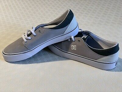 Men DC Shoes Trase SD Skate Shoes UK Size 8 EUR 42 Leather/Textile/Rubber Grey