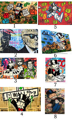 Alec Monopoly poster print art painting street graffiti not banksy wall decor