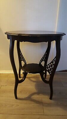 Antique Vintage Plant Hall Side Table with detail