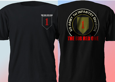 6f69eeaa US 1st Infantry Division The Big Red One Militar ARMY Veteran T Shirt S-4XL