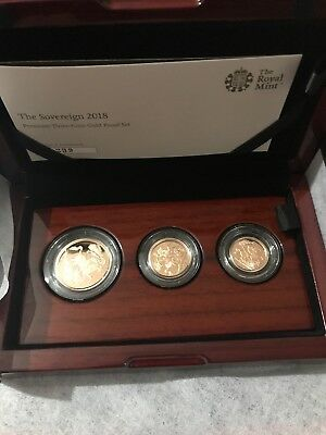 The Sovereign 2018 Premium 3-Coin Gold Proof Set Limited Edition 450