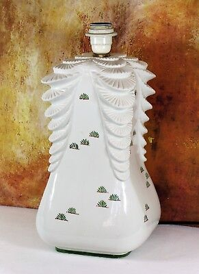 A Large Vintage Italian Table Lamp By V.Bassano Painted Ceramic 1970s